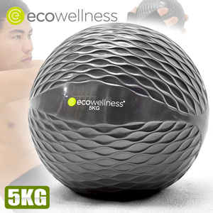 5KG重量藥球【ecowellness】(抗力球健身球復健球.韻律球訓練球重力球重球.運動健身器材.推薦哪裡買)C010-00715