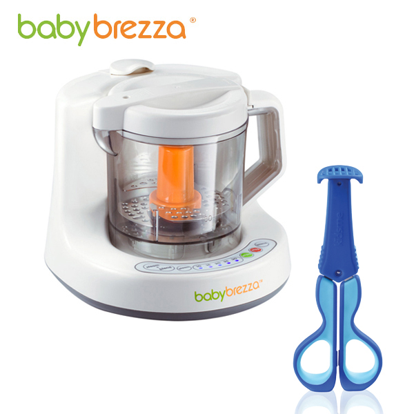 *預購加贈專用蒸鍋* Baby Brezza - 副食品調理機 (附食譜) 加贈Kidsme - 三合一多功能食物剪! (顏色隨機)