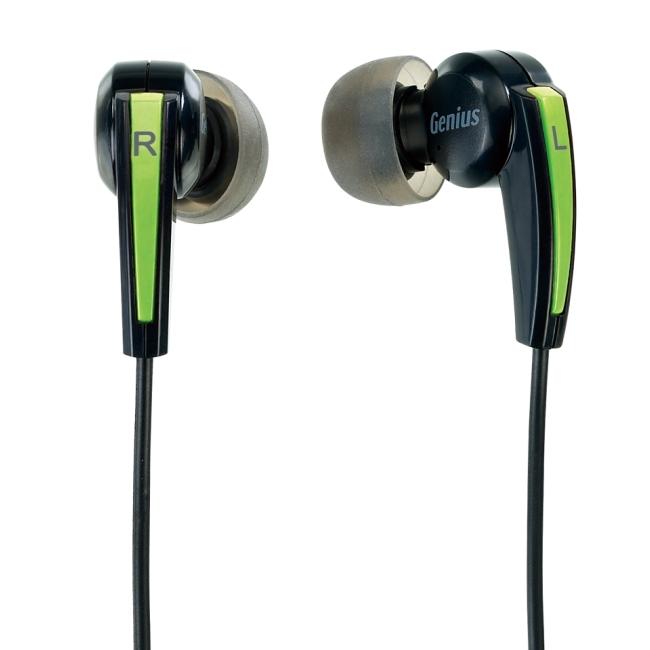【迪特軍3C】Genius HS-M220 密閉型立體聲噪音隔絕式耳機+麥克風(臨場的低音震撼)(綠)