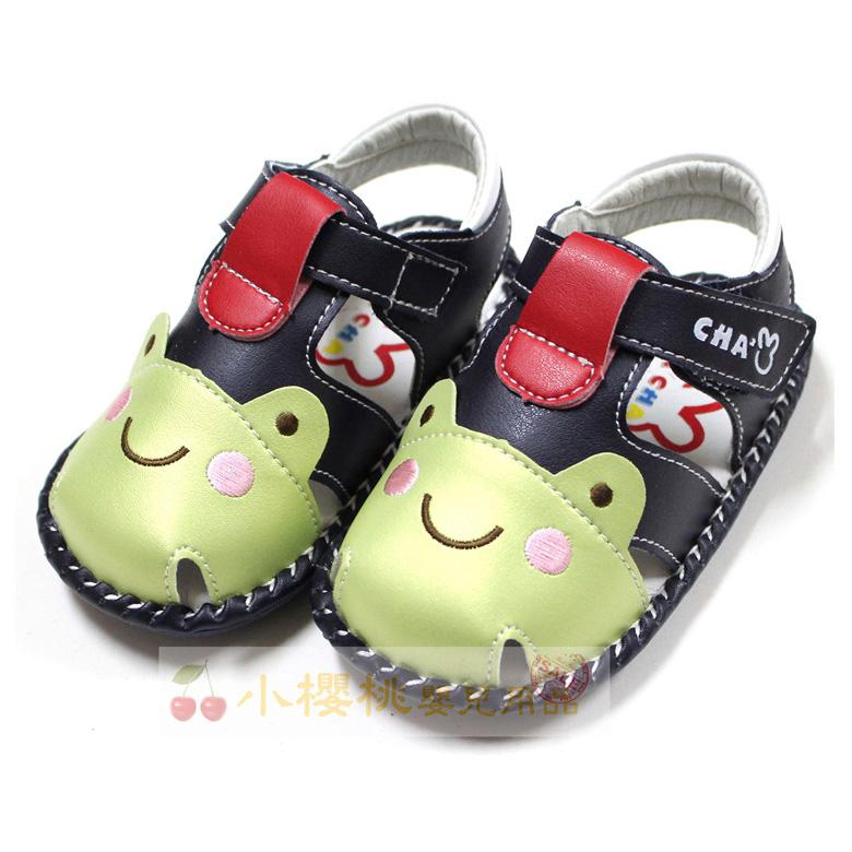天鵝童鞋Cha Cha Two恰恰兔--青蛙涼鞋 學步鞋 【台灣製造】