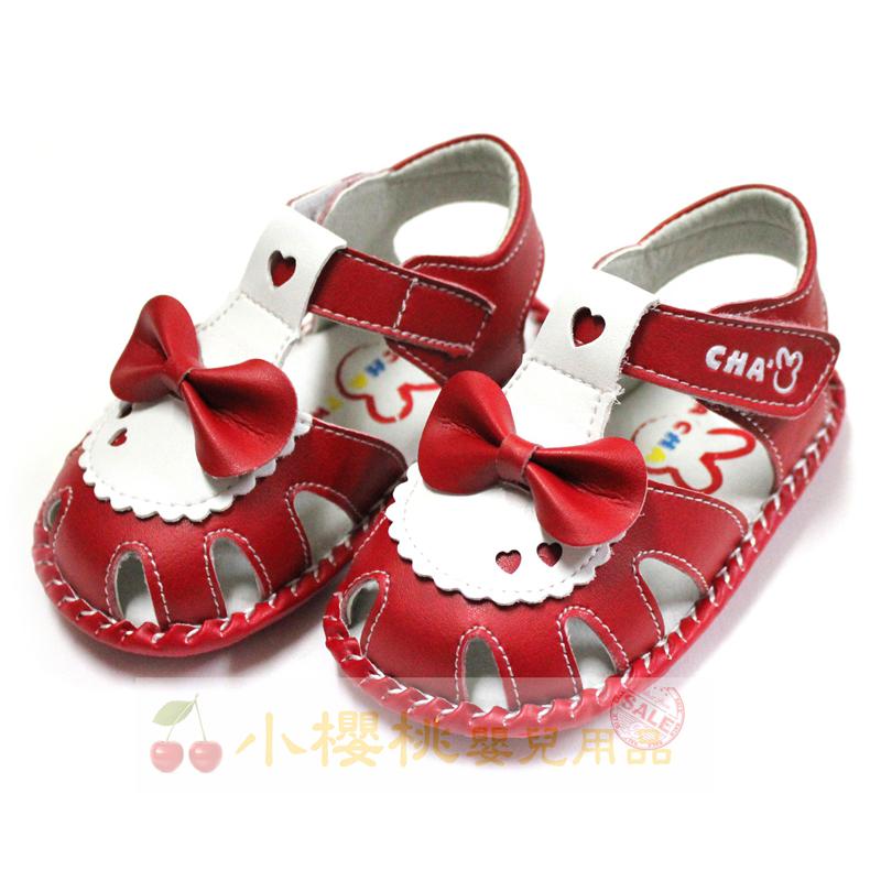 天鵝童鞋Cha Cha Two恰恰兔--小愛心蝴蝶結涼鞋 學步鞋 【台灣製造】