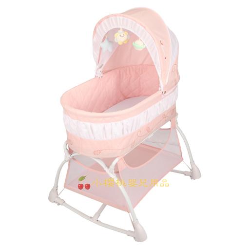 MAMALOVE媽媽愛--多功能搖床 嬰兒床【粉色】