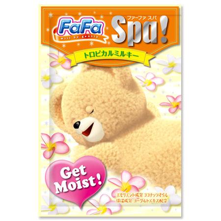 @小櫻桃嬰兒用品@日本FaFa熊--熱帶花卉牛奶保濕入浴劑30G
