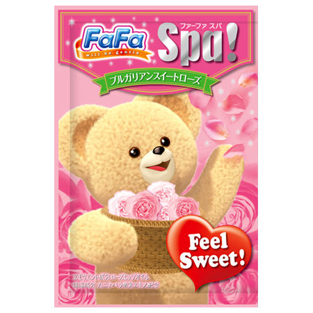 @小櫻桃嬰兒用品@日本FaFa熊--玫瑰香氛保濕入浴劑30G