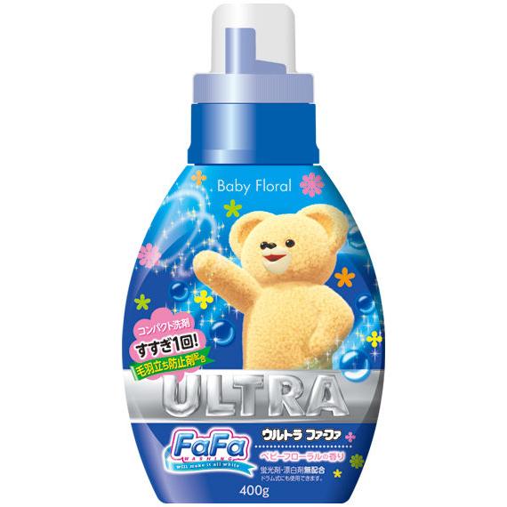@小櫻桃嬰兒用品@日本FaFa熊--nissan濃縮洗衣精 嬰兒花香400g
