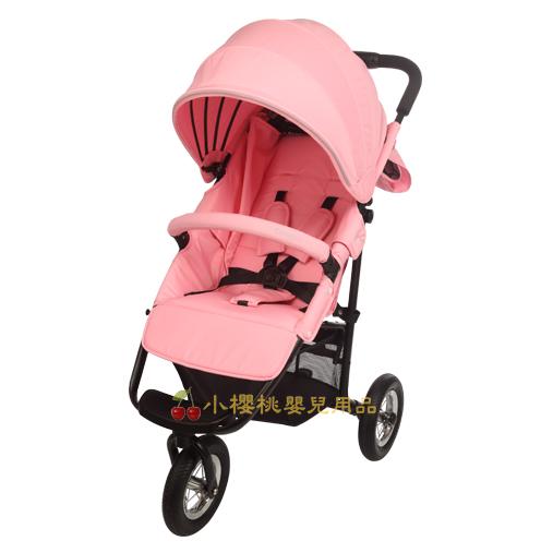 MAMALOVE--豪華三輪手推車 粉色 同日本AirBuggy COCO款
