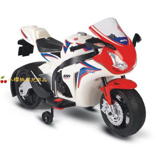日系1000cc兒童電動重型機車 電動車 白色