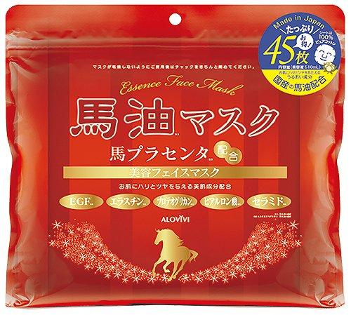 日本原裝 精華高保濕馬油面膜(45枚入)