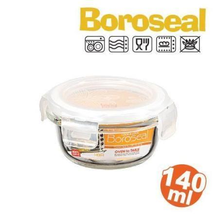 【Boroseal】樂扣玻璃保鮮盒140ML-圓形
