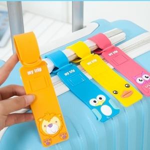 美麗大街【BF184E15E1】韓國卡通矽膠行李箱托運掛牌創意旅行箱卡牌登機牌吊牌
