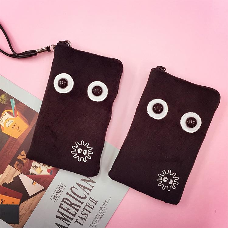 PGS7 日本卡通系列商品 - 小煤炭 造型 手機包 手機收納袋 收納包 Totoro 宮崎駿 吉卜力