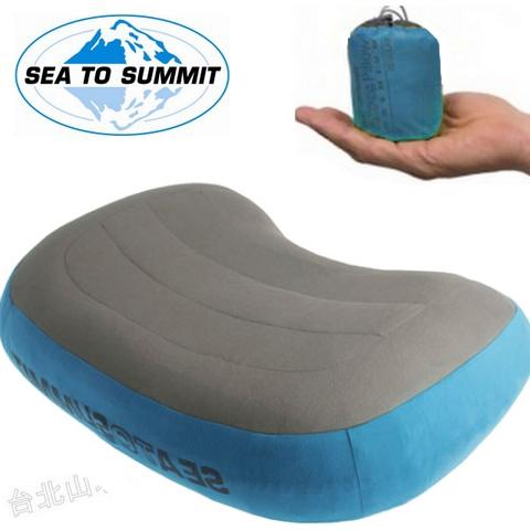 [ Sea to Summit ] 舒適充氣枕/露營枕/吹氣枕/旅行枕  Aeros Premium Pillow 超軟透氣布面 50D APILPREMRG 藍