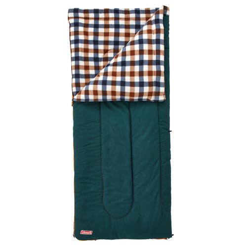 【露營趣】中和 附手電筒 Coleman  5℃棕格紋刷毛睡袋 信封型睡袋 化纖睡袋 纖維睡袋 可全開併接CM-26650