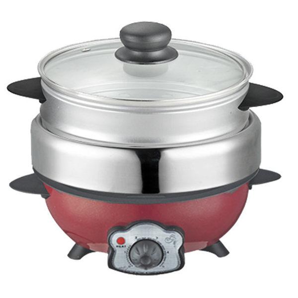 免運費【KRIA可利亞】蒸煮烤三用料理鍋/調理鍋/電火鍋 KR-816