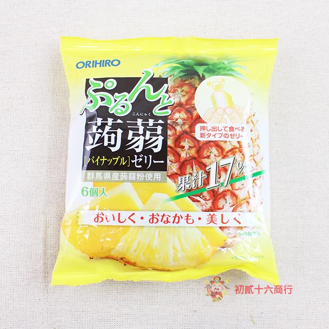 【0216零食會社】日本ORIHIRO_蒟蒻果凍(鳳梨)120g_6入