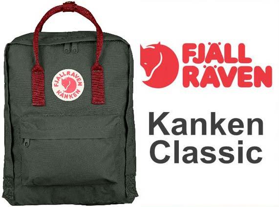 瑞典 FJALLRAVEN KANKEN Classic 660-326 Forest Green & Ox Red 森林綠/公牛紅  小狐狸包