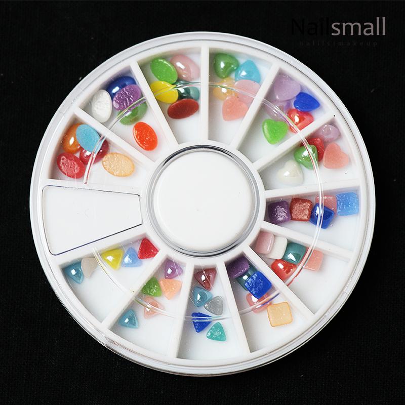 12格波希米亞幻彩陶瓷鑽圓盤組#19 美甲甲面貼飾組