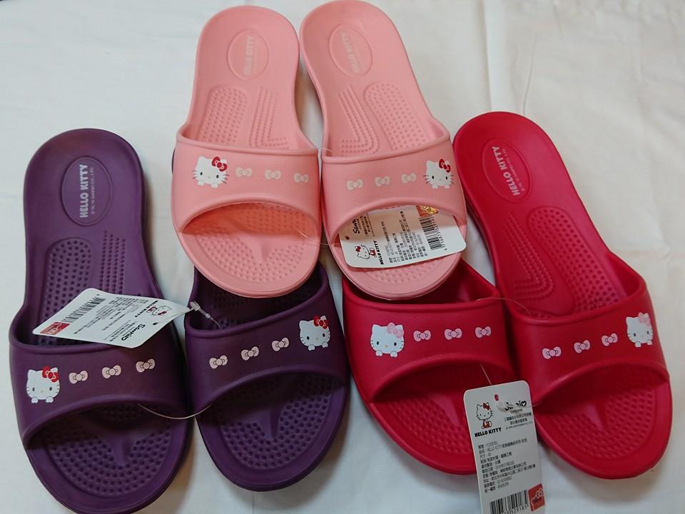 佳冠居家~HELLO KITTY拖鞋尺寸36.38.40 台灣製造超輕防水防滑拖鞋室內外拖鞋 浴室拖鞋