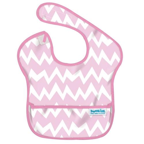 【淘氣寶寶】2016年最新 美國Bumkins防水兒童圍兜(一般無袖款6個月~2歲適用)-粉鋸齒