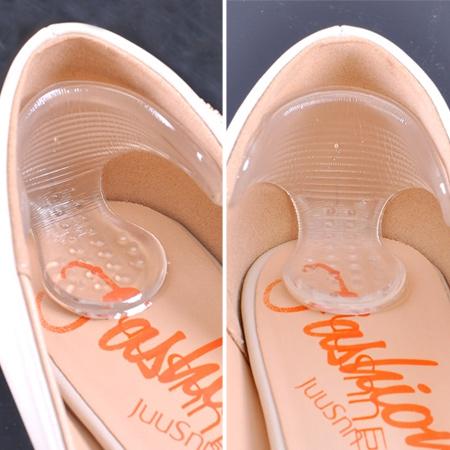 T字型矽膠止滑紓壓腳根貼(2入) 後跟貼 矽膠鞋墊 防磨腳【N201608】