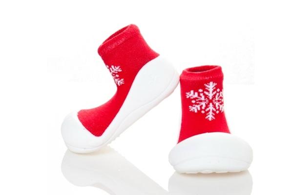 ★衛立兒生活館★韓國Attipas 快樂腳襪型學步鞋【耶誕紅】