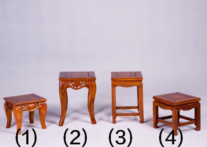 【石川家居】KL-162 柚木1尺四角板凳(編號4)(單張) 需搭配車趟費