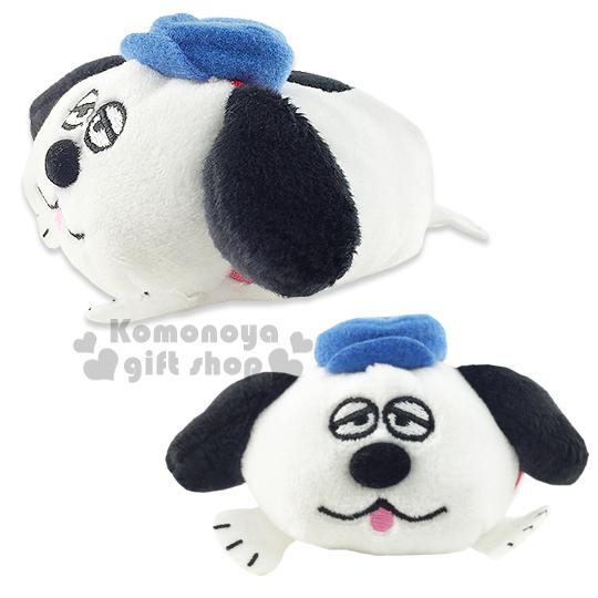 〔小禮堂〕 史努比 造型迷你絨毛沙包娃娃《白.OLAF.趴姿.藍帽子》多個可堆疊