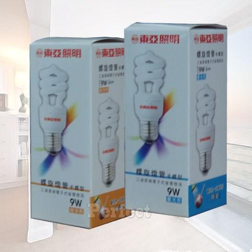 《東亞》9W半螺旋燈泡120V 晝光色 / 燈泡色