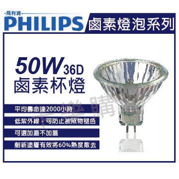 PHILIPS飛利浦 經濟型 50W 12V 36D 鹵素杯燈 _ PH140005