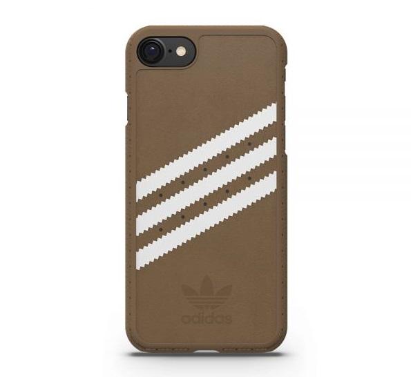 【adidas Originals】iPhone 7/i7(4.7吋)-咖啡色/棕色 雙材質保護殼 斜紋 背蓋/手機套/保護套/手機殼