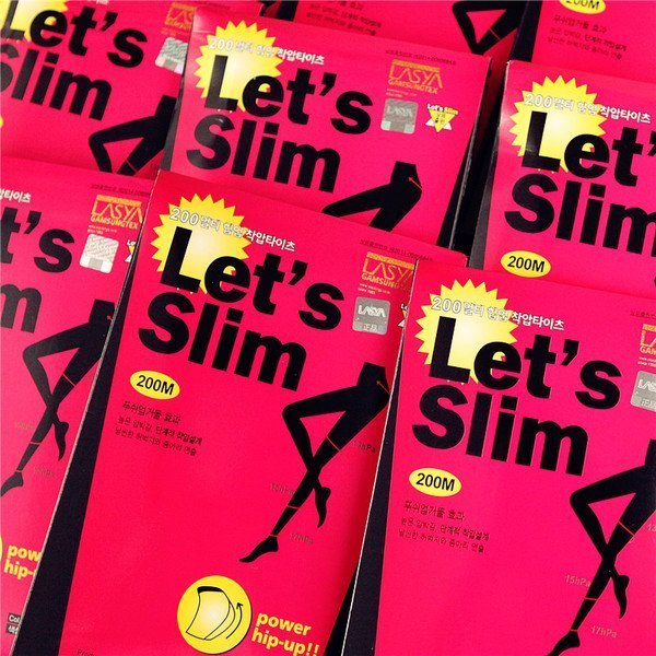 Lets slim 壓力提臀顯瘦收腹彈性厚 韓國瘦腿褲襪 內搭 Let's slim 正韓 200丹D