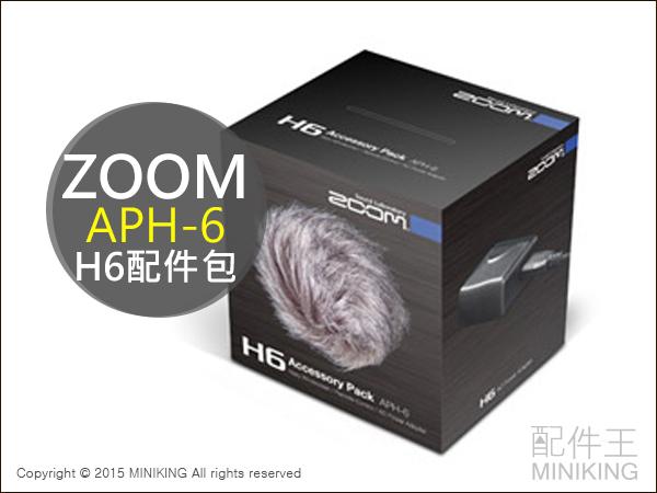 【配件王】日本代購 ZOOM Handy Recorder H6 配件包 APH-6 遙控器 防風罩 供電器 另售 H6