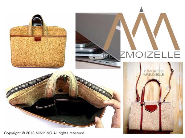 ∥配件王∥泰國進口 mazmoizelle 軟木塞 設計款 筆電包 包包 可放 蘋果 Apple ASUS SONY 非 皮革 另售bkk