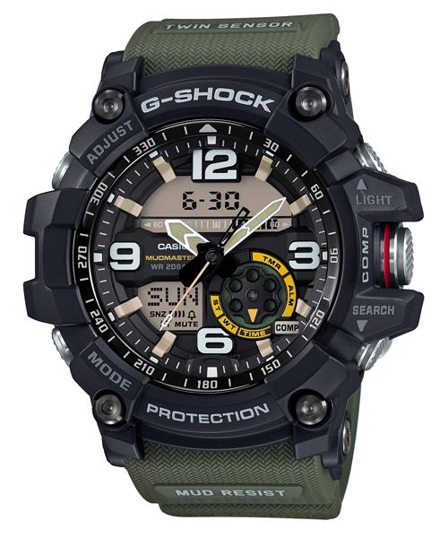 國外代購 CASIO G-SHOCK GG-1000-1A3 對抗險峻顛簸環境 雙顯 運動防水手錶腕錶電子錶男女錶 軍綠