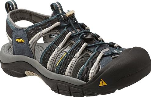 《台南悠活運動家》 KEEN 美國 男款防撞護指涼鞋 深藍/淺灰 1014187