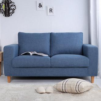 【迪瓦諾】貓抓布沙發 2人 / 3人 /L型/牛仔藍(18種顏色)/台灣製 /可訂做