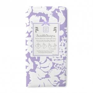 美國【Swaddle Designs】薄棉羅紗多用途嬰兒包巾 (繁花粉紫)