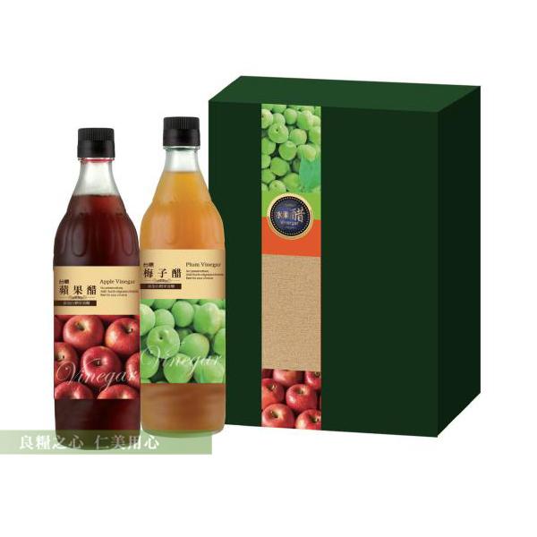 台糖 水果醋禮盒_蘋果醋x1+梅子醋x1