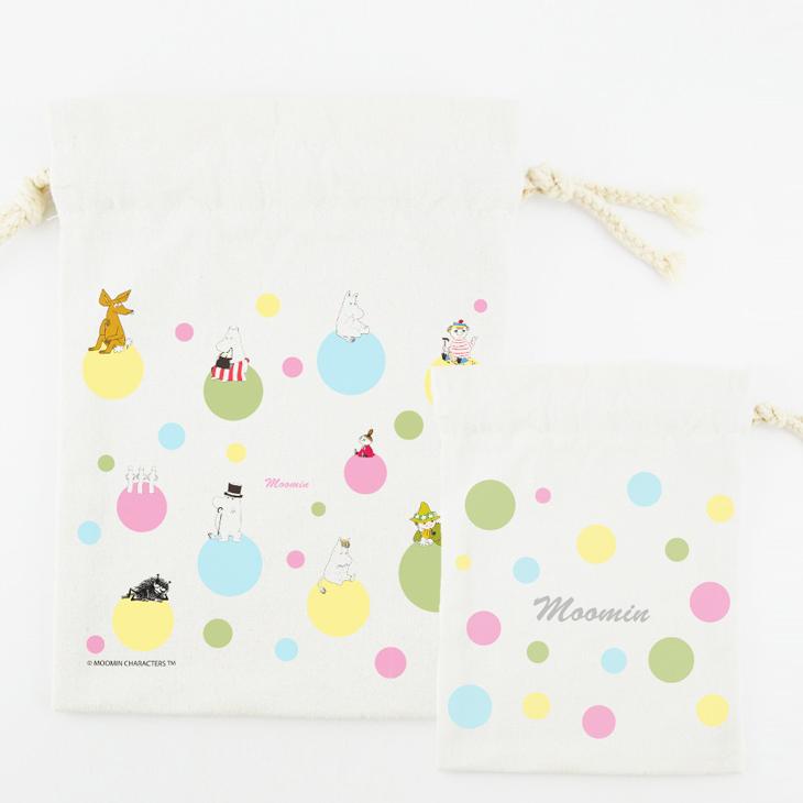 Moomin嚕嚕米授權 - 束口袋:【 彩虹泡泡 】