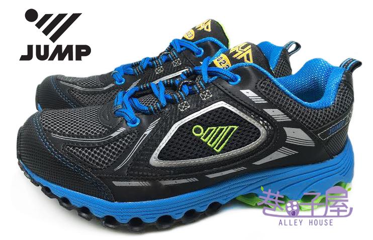【巷子屋】JUMP將門 男款拱型避震防臭運動慢跑鞋 [3023] 黑藍 超值價$690