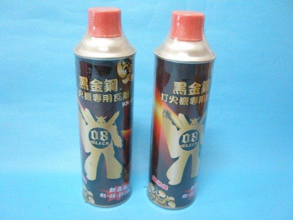 黑金剛打火機專用瓦斯KK-01純丁烷瓦斯補充罐(大罐)300公克(三用型)/{定100}一箱24罐入