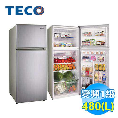 東元 TECO 480公升雙門變頻冰箱 R4881XLH