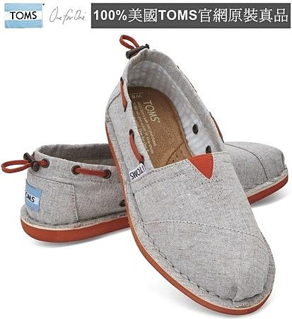 【Cadiz】美國真品正品 TOMS 灰色抽繩帆布平底鞋 [Grey Chambray Women's Biminis/ 代購/ 現貨]/ 代購/ 現貨]