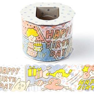 日本 Iroha Publish 超寬紙膠帶 - 06生日祝福