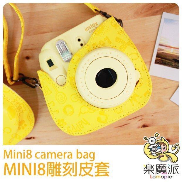 『樂魔派』富士 MINI8 拍立得相機包保護套皮套 MOCMOC 紅 藍 可愛塗鴉風格 INSTAX MINI 8