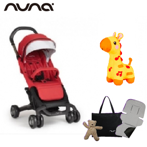 【贈4大好禮】荷蘭【Nuna】Pepp Luxx 二代時尚手推車(紅色)