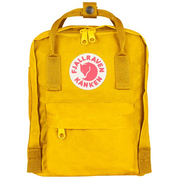 ├登山樂┤瑞典Fjallraven Kanken mini  復古後背包/方型書包 # 23561 (141 Warm Yellow/溫暖黃)