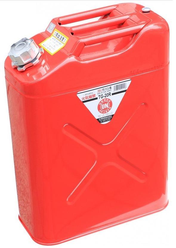 ├登山樂┤日本 YAZAWA 軍規級儲油桶20L 紅 # TG-20R (新型號CRT-20)