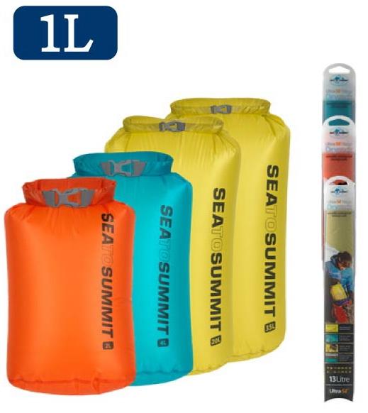 ├登山樂┤澳洲 Sea To Summit 15D 輕量防水收納袋 1L 藍、萊姆綠  # STSAUNDS1BL、STSAUNDS1LI