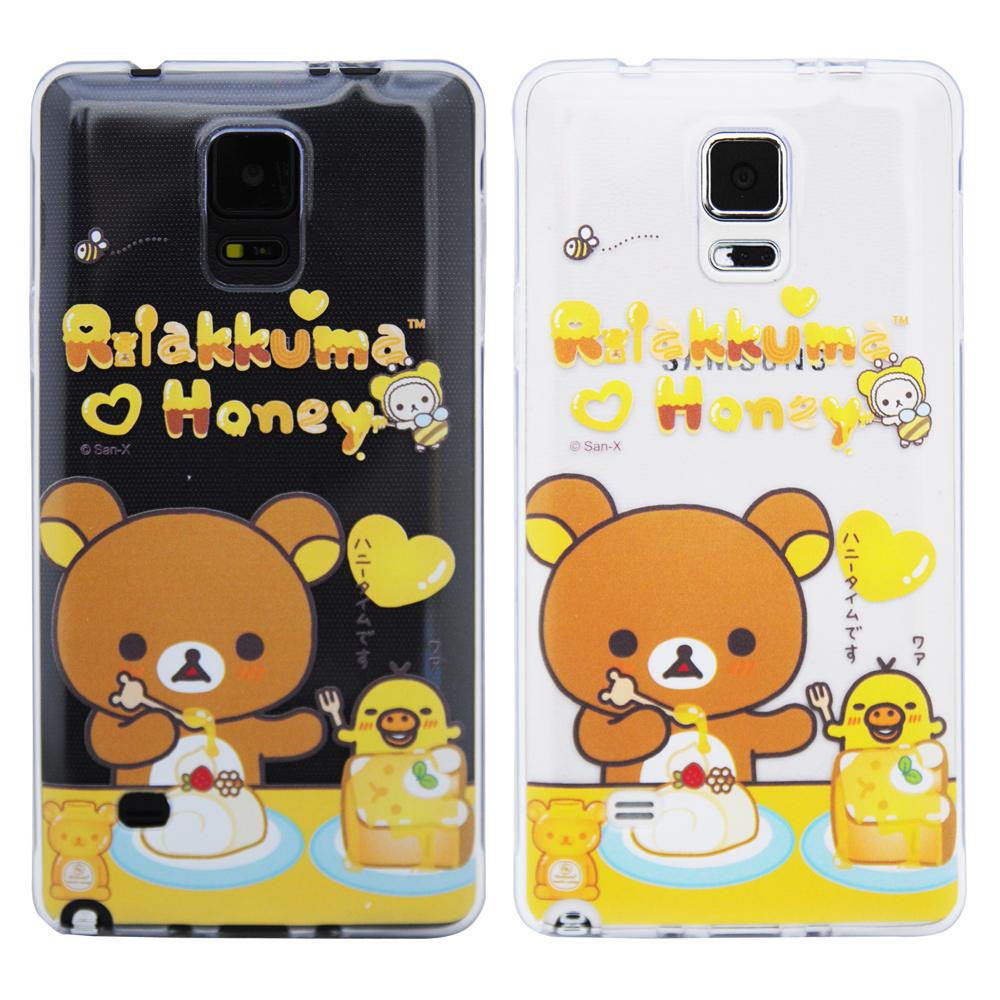 Aztec 拉拉熊 Samsung Note 4 矽膠軟手機殼-點心時間